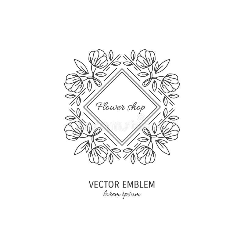 Logotipo do florista ilustração royalty free