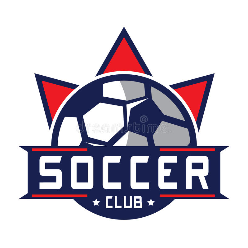 Logotipo do futebol, logotipo de América ilustração do vetor