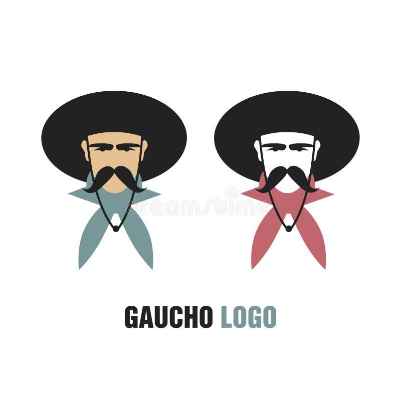 Logotipo do gaúcho ilustração royalty free