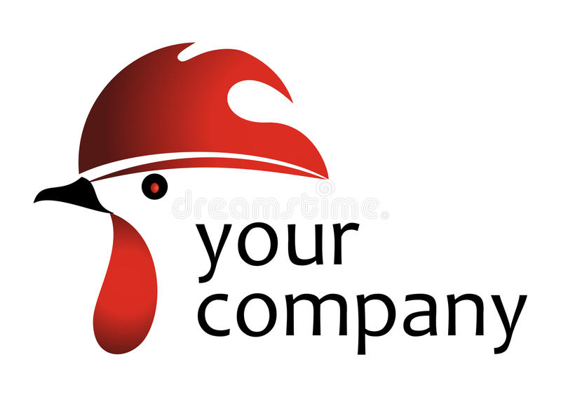 Logotipo do galo ilustração do vetor