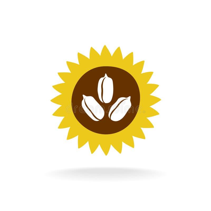 Logotipo do girassol ilustração royalty free