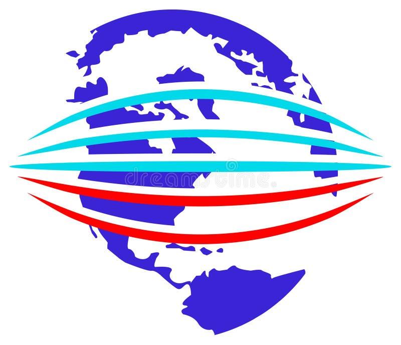 Logotipo do Glob ilustração stock