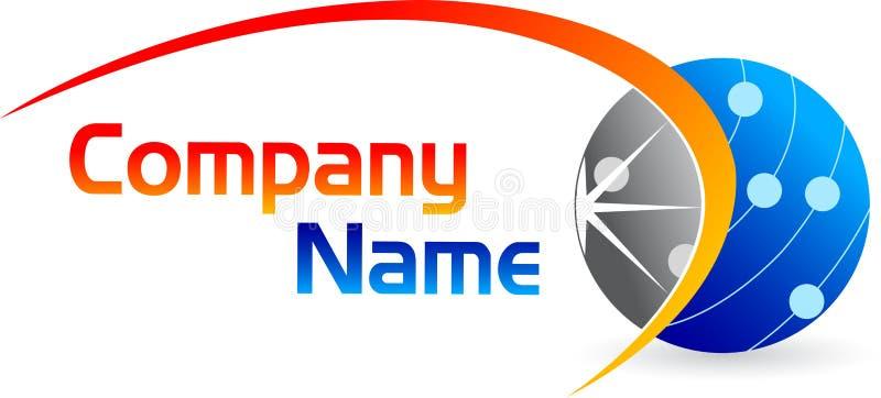 Logotipo do globo ilustração stock
