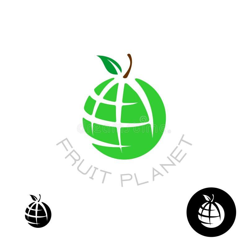 Logotipo do globo da maçã da terra ilustração stock