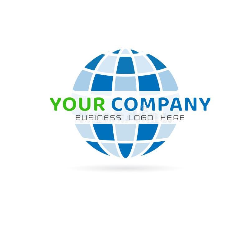 Logotipo do globo e elemento do ícone, vetor no fundo branco ilustração do vetor