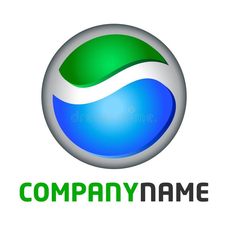 Logotipo do globo e elemento do ícone ilustração stock