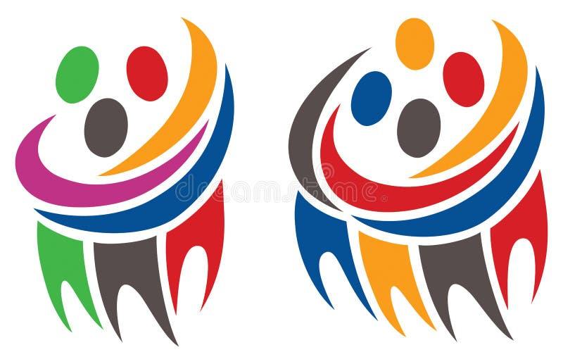 Logotipo do grupo dos povos ilustração royalty free