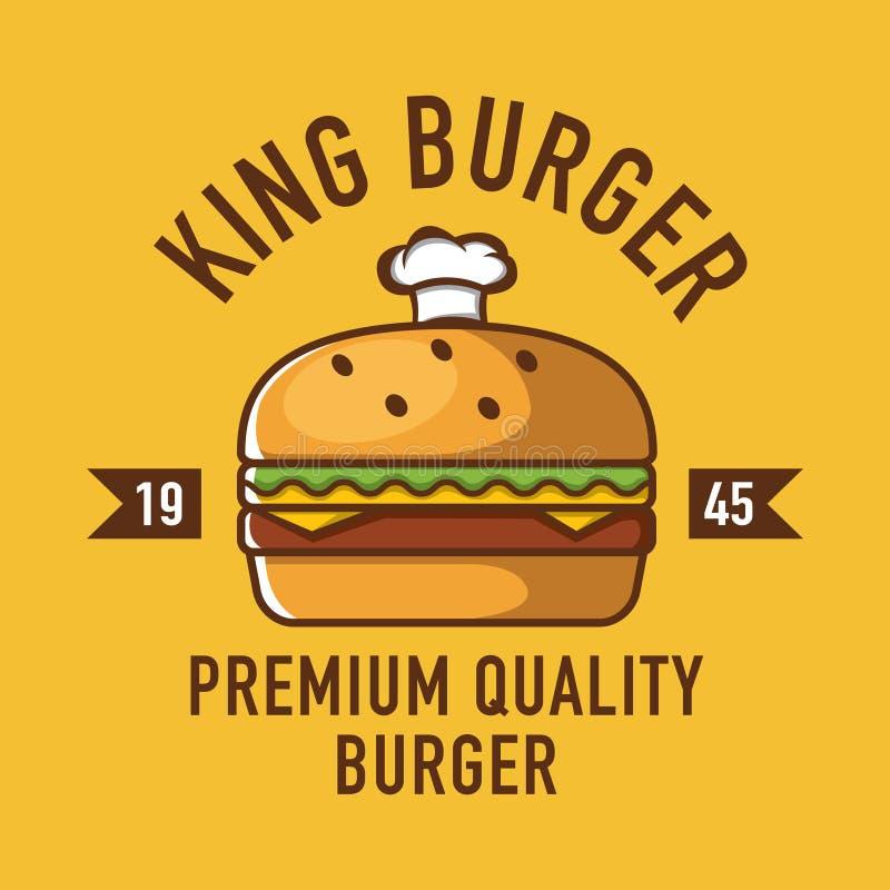 Logotipo do hamburguer, logotipo do café, logotipo do restaurante, desenhos animados do hamburguer ilustração royalty free