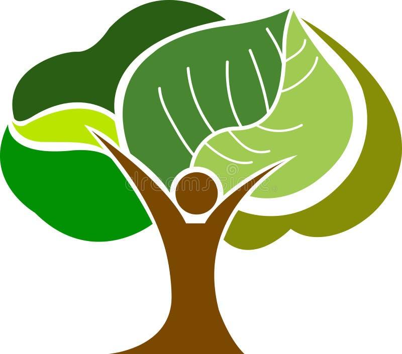 Logotipo do homem da árvore ilustração royalty free