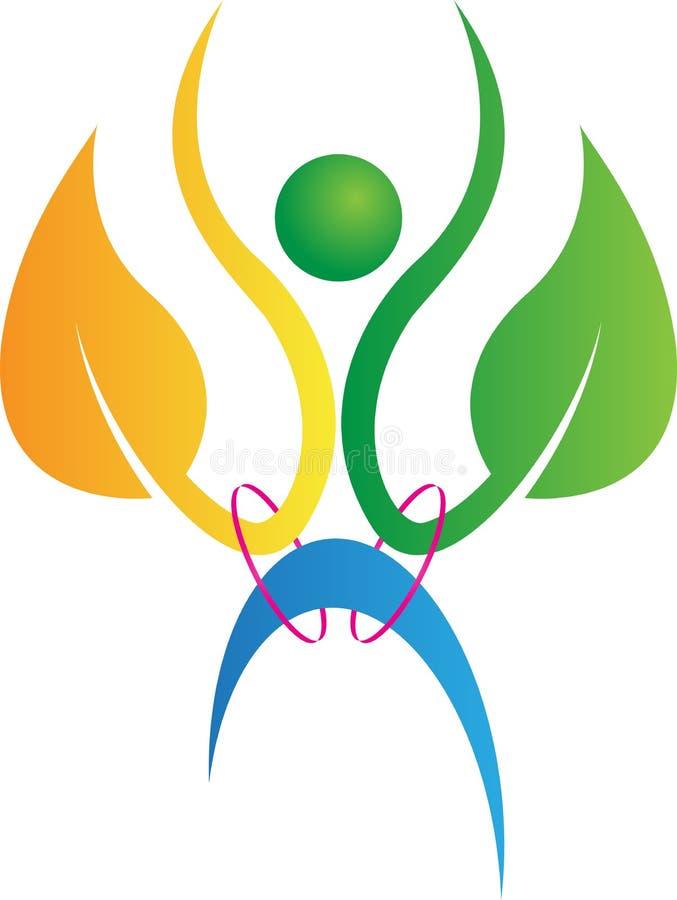 Logotipo do homem da planta ilustração stock