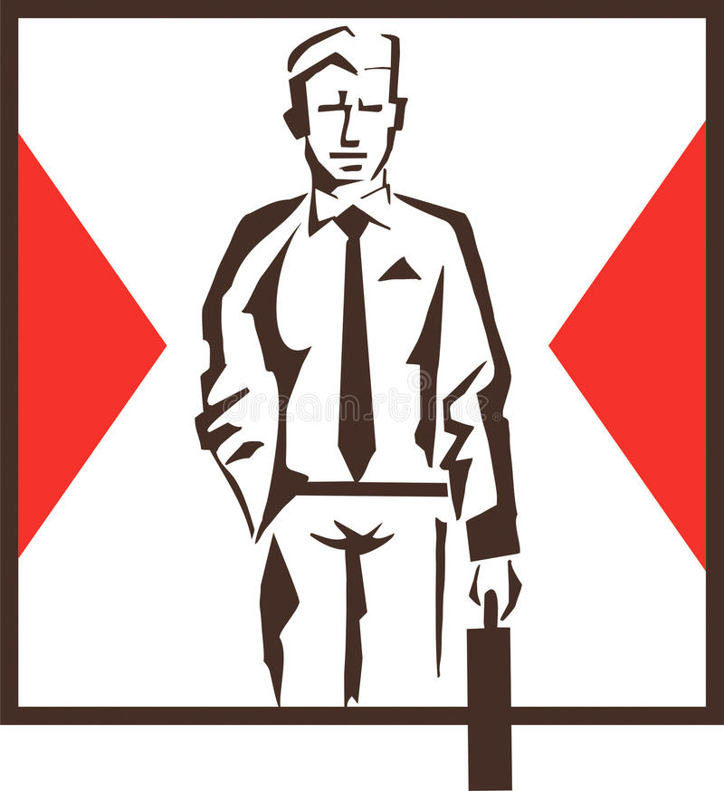 Logotipo do homem de negócios fotos de stock