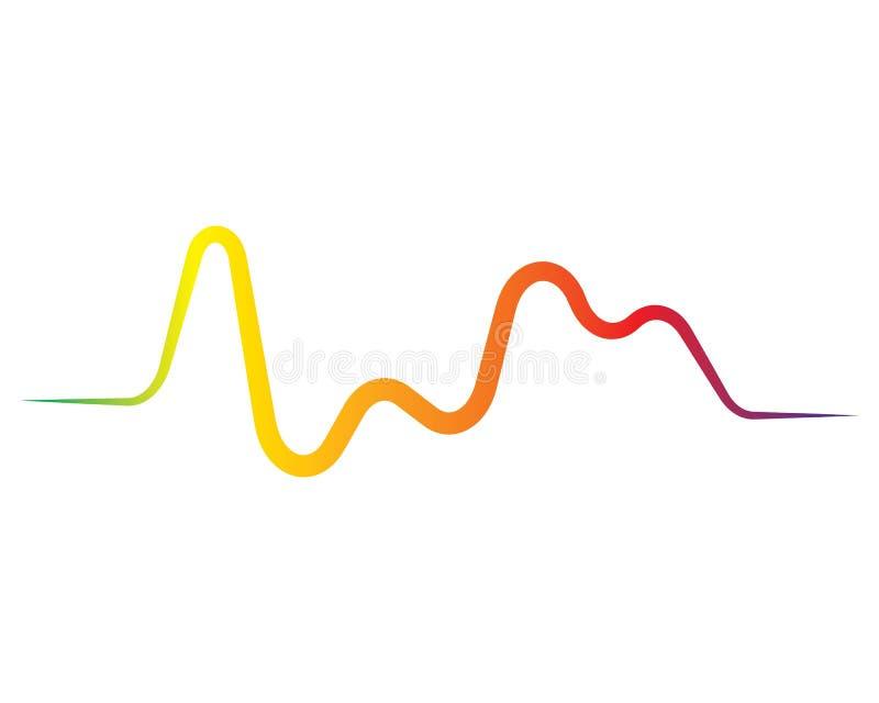 logotipo do ilustration da onda sadia ilustração stock