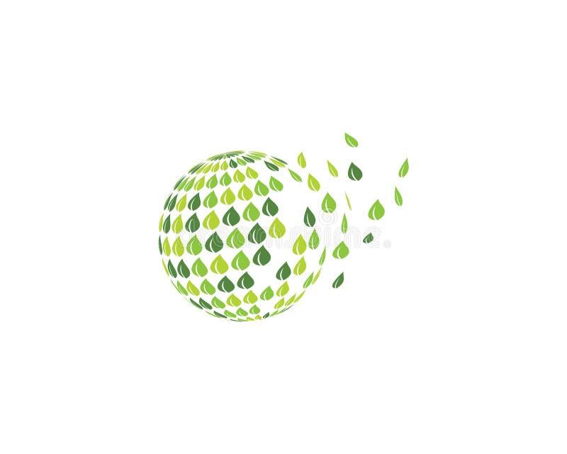logotipo do ilustration do globo ilustração stock