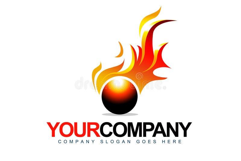 Logotipo do incêndio ilustração stock