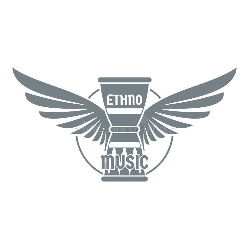Logotipo do instrumento de percussão, estilo cinzento simples ilustração do vetor