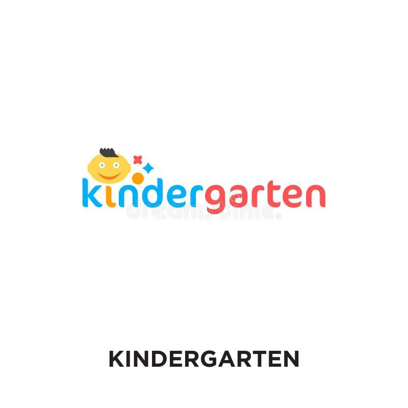 logotipo do jardim de infância isolado no fundo branco para sua Web, multidão ilustração royalty free