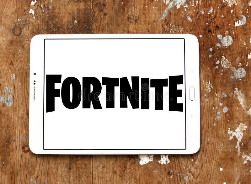 Logotipo do jogo de Fortnite imagem de stock