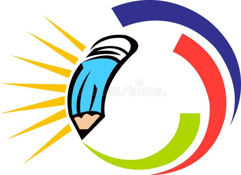 Logotipo do lápis ilustração royalty free