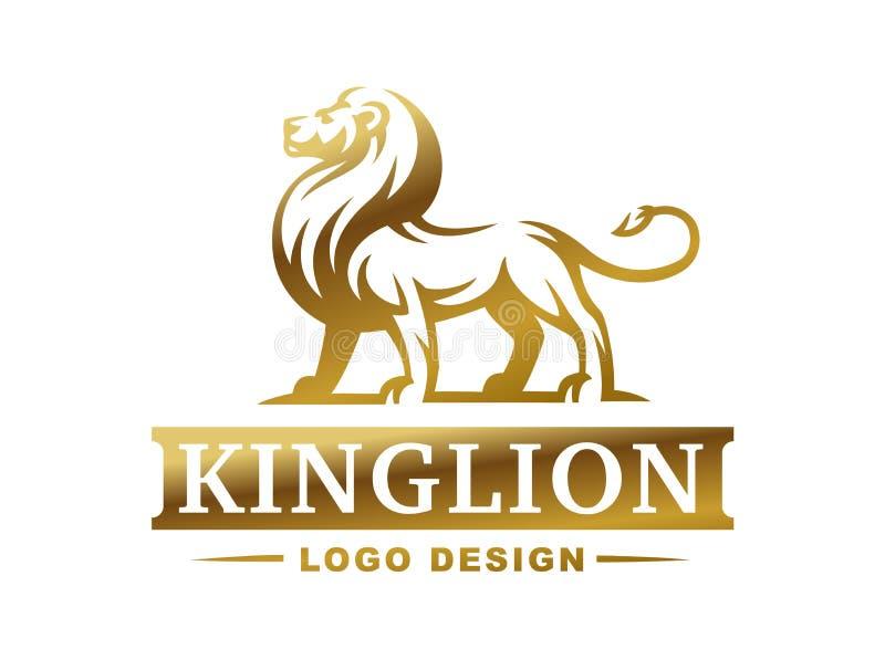 Logotipo do leão - vector a ilustração, projeto do emblema ilustração do vetor
