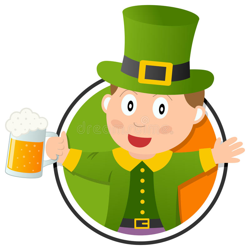 Logotipo Do Leprechaun De St Patrick S Foto de Stock Royalty Free