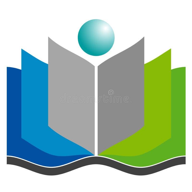 Logotipo do livro ilustração do vetor