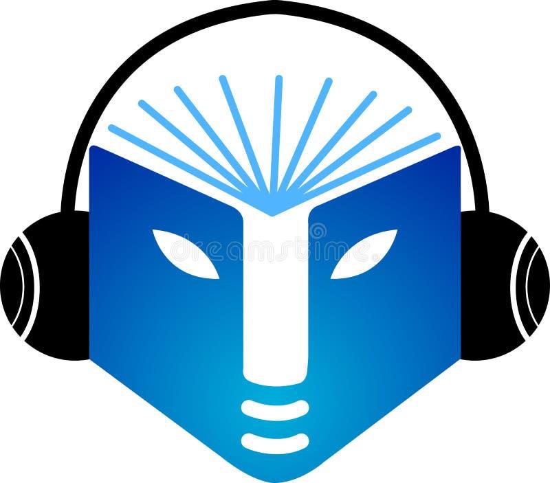 Logotipo do livro de música ilustração do vetor