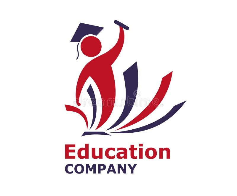 Logotipo 2 do livro do estudante ilustração royalty free
