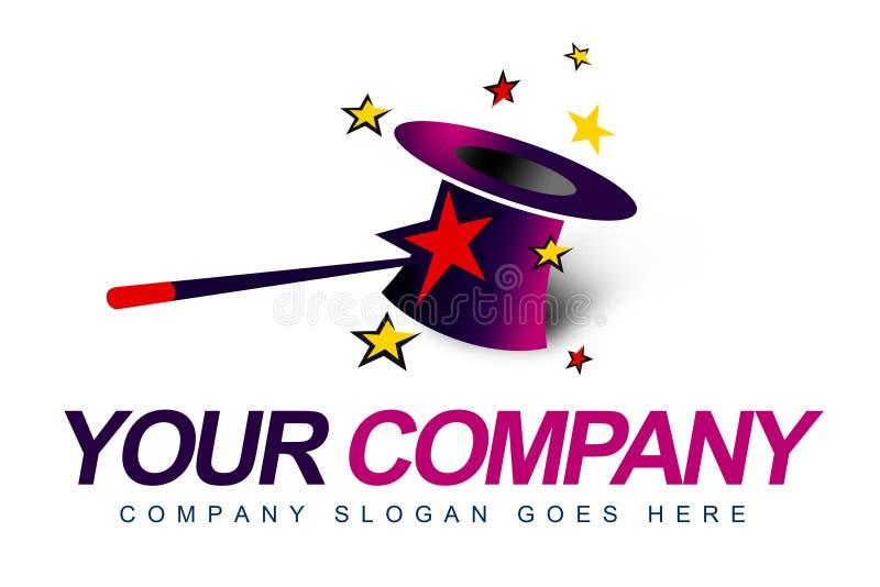 Logotipo do mágico ilustração stock