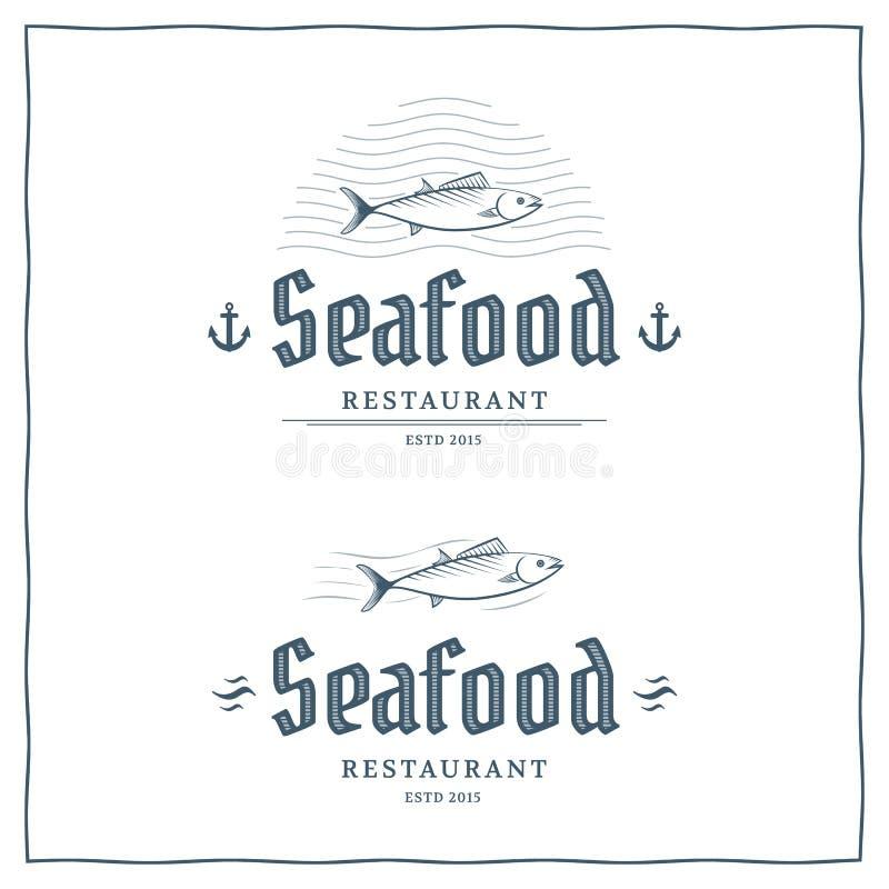 Logotipo do marisco ilustração stock