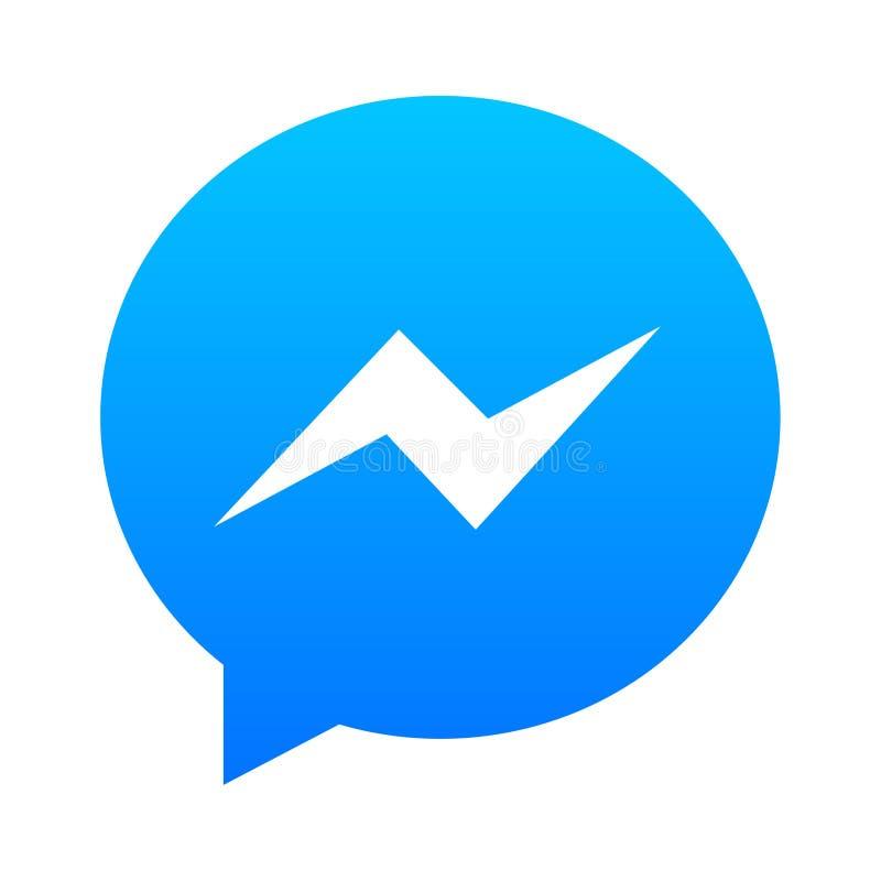 Logotipo do mensageiro de Facebook ilustração stock