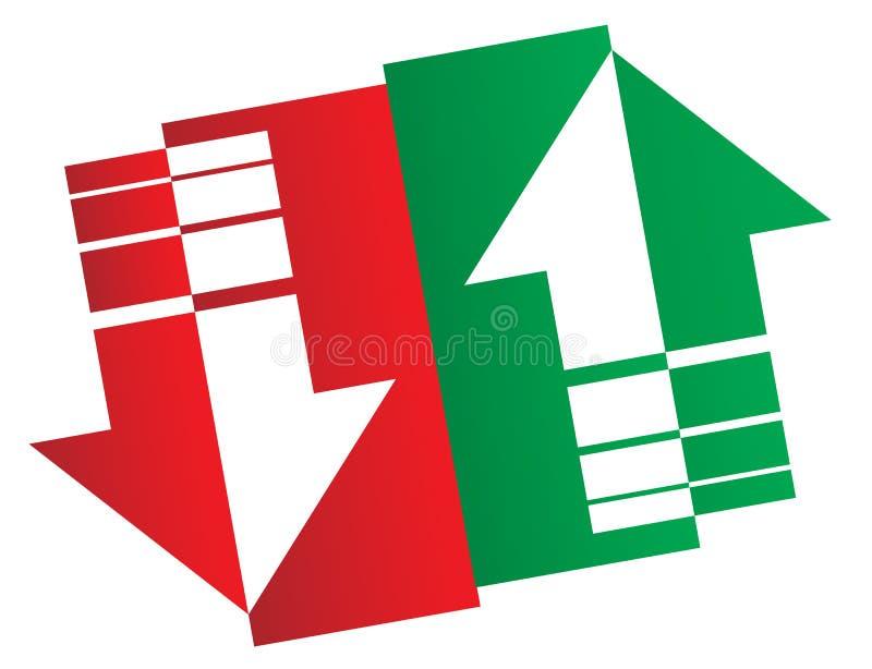 Logotipo do mercado de valores de ação ilustração stock
