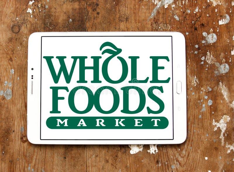 Logotipo do mercado de Whole Foods imagens de stock