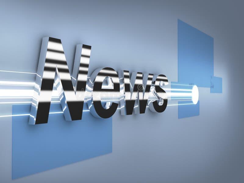 Logotipo do metal das notícias de última hora 3d ilustração do vetor