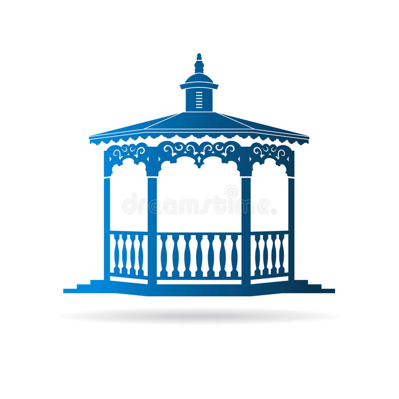 Logotipo do miradouro do casamento ilustração stock