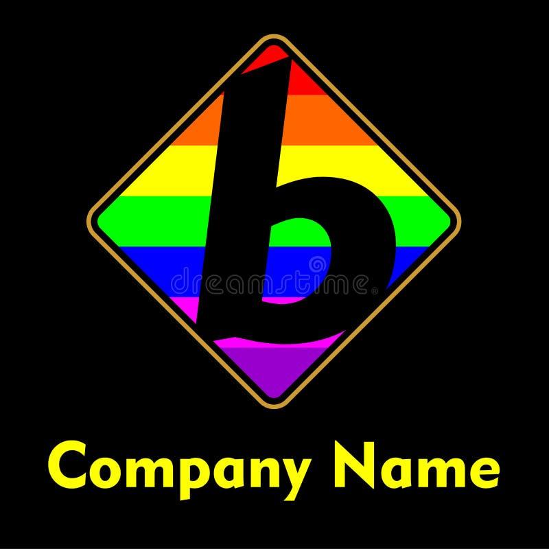 Logotipo do molde da letra de B fotografia de stock royalty free