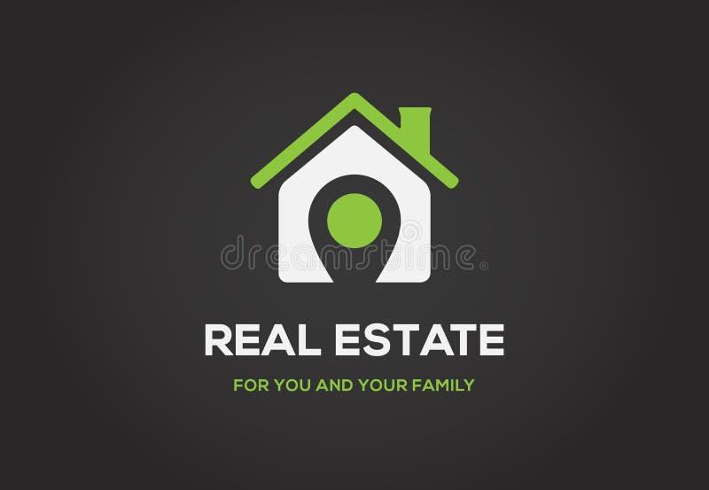 Logotipo do molde para a classe real da elite da cidade da agência imobiliária ou da casa de campo ilustração royalty free