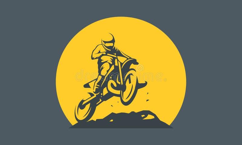 Logotipo do motocross ilustração royalty free