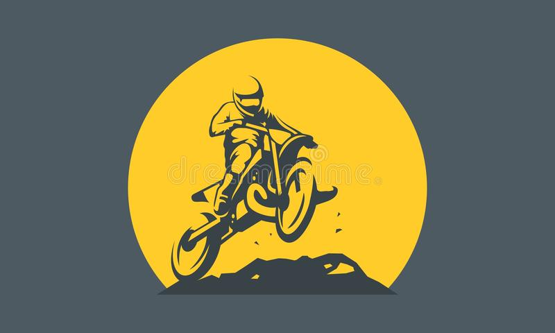 Logotipo do motocross fotografia de stock royalty free