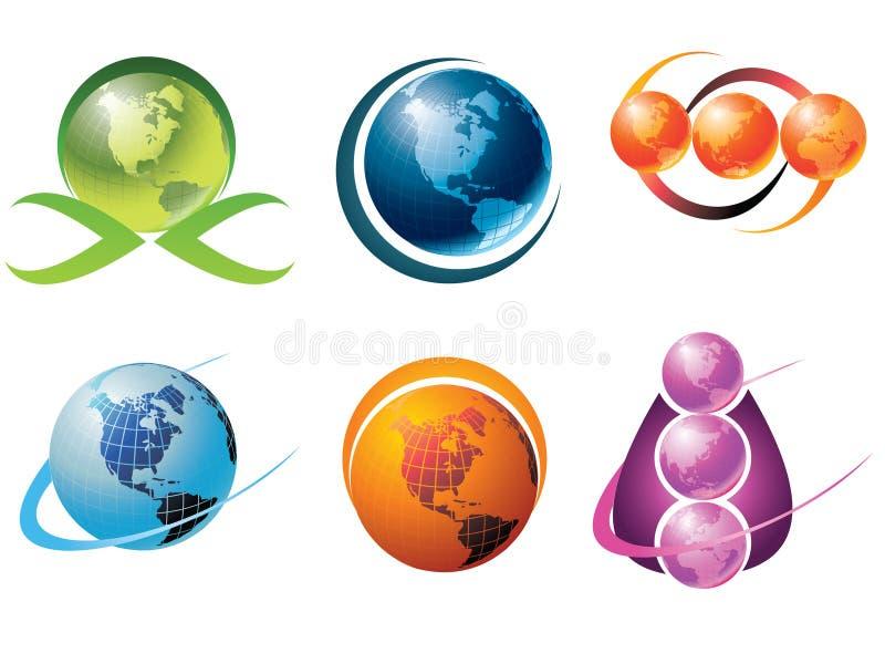 Logotipo do mundo ilustração stock