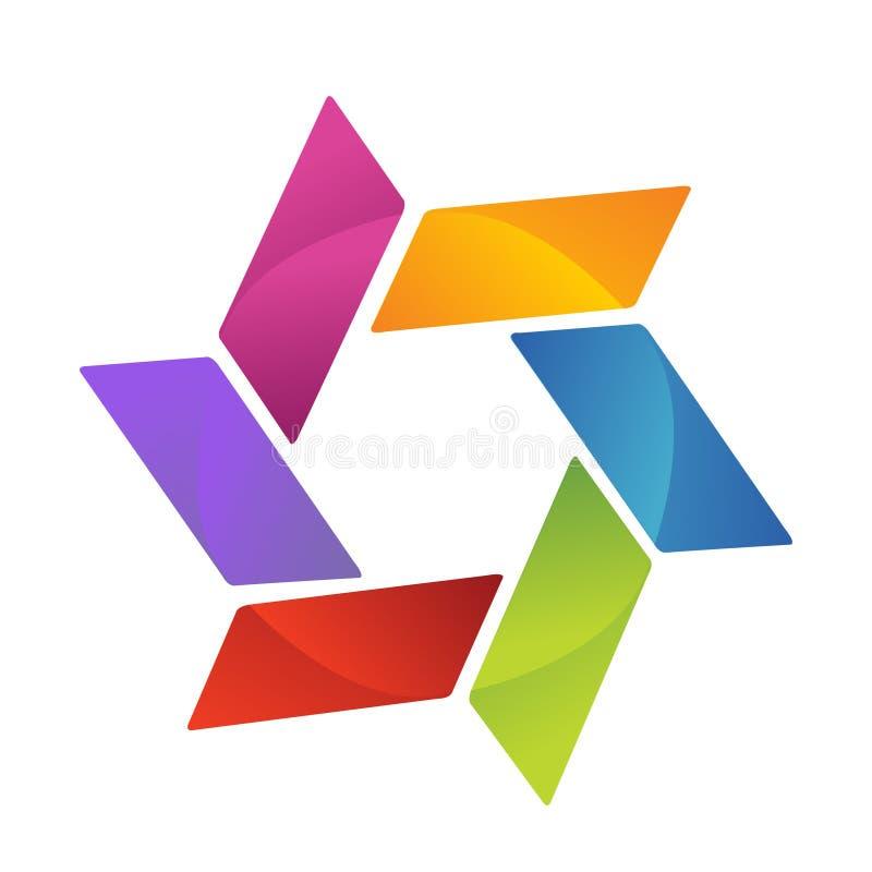 Logotipo do negócio ilustração royalty free