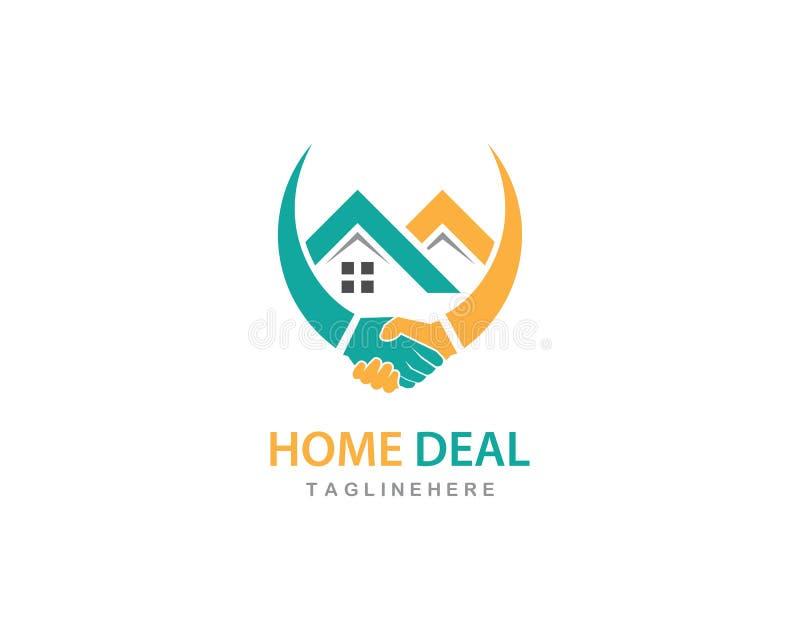 Logotipo do negócio da casa ilustração stock