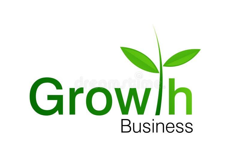 Logotipo do negócio do crescimento ilustração royalty free
