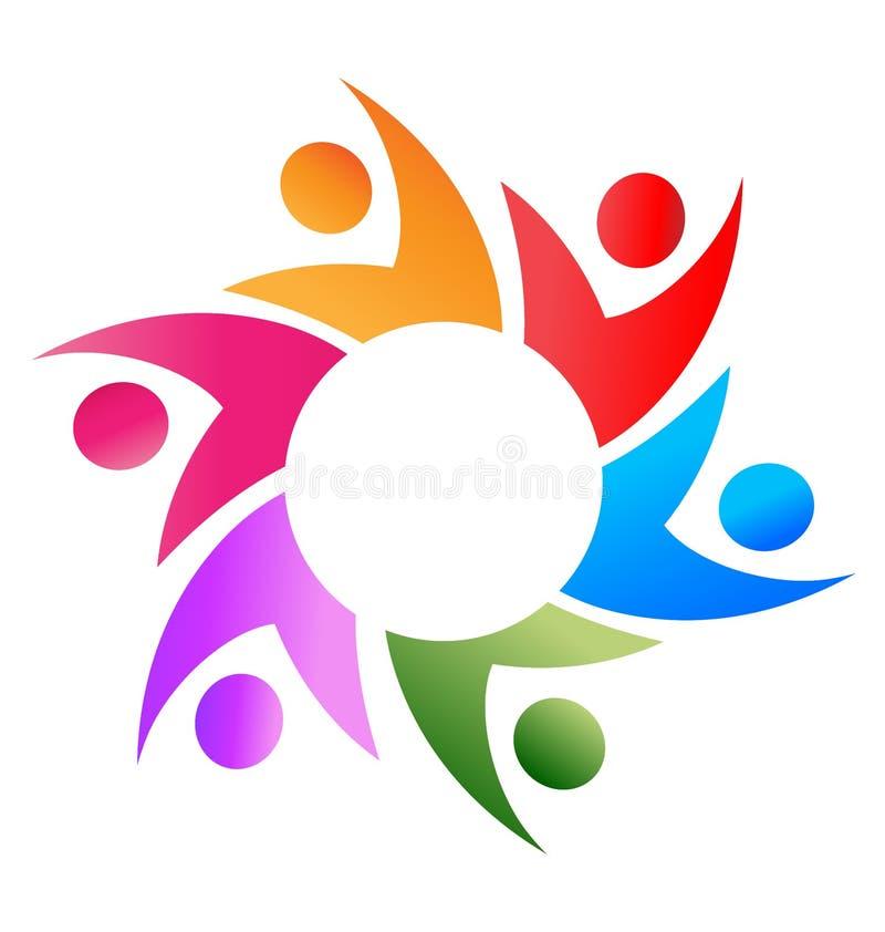 Logotipo do negócio dos trabalhos de equipa ilustração stock