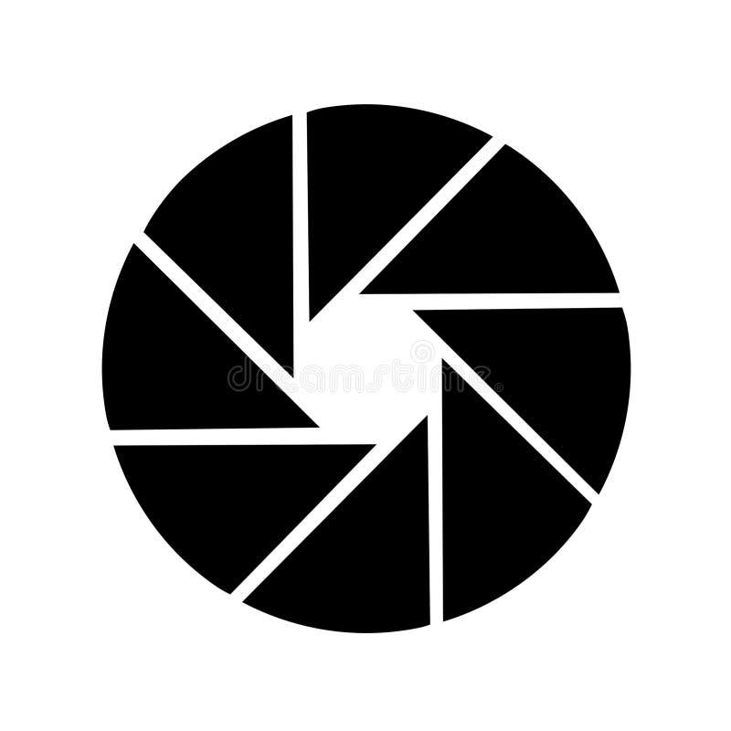 Logotipo do obturador ilustração royalty free
