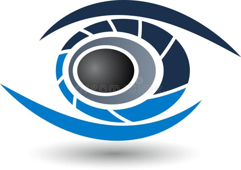 Logotipo do olho ilustração royalty free