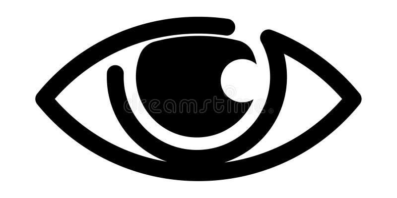 Logotipo do olho preto e branco ilustração royalty free