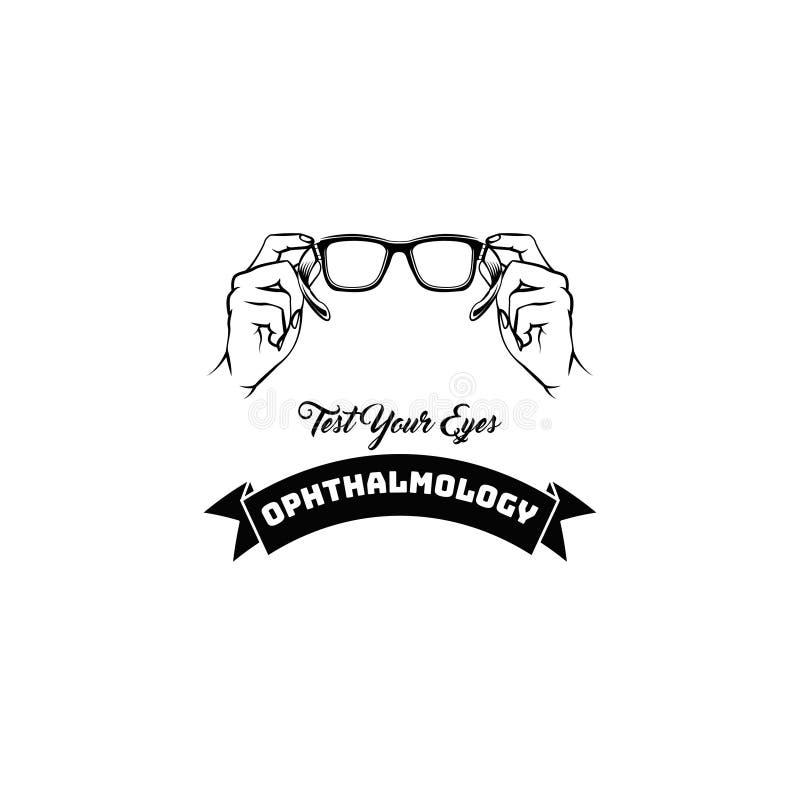 Logotipo do optometrista Vidros Eyeglasses ophthalmology Ilustração do vetor ilustração royalty free