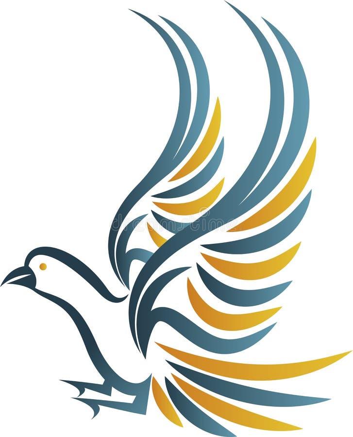 Logotipo do pássaro ilustração royalty free