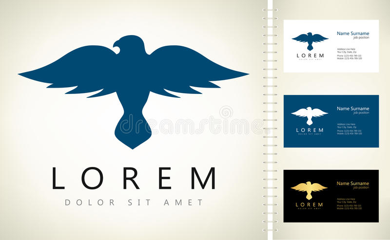 Logotipo do pássaro ilustração stock