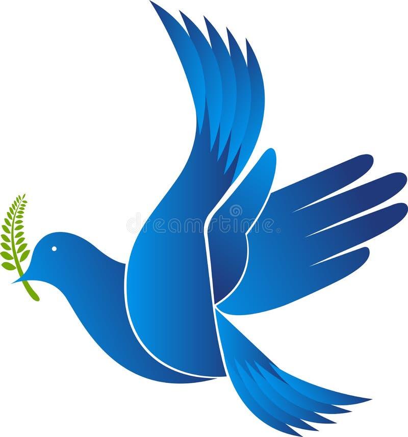 Logotipo do pássaro da mão ilustração royalty free